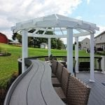 O'neill - TimberTech deck and pergola with curved bar counter