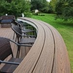 Chonko Trex deck curved bar seating overlook