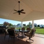Clifford - timbertech deck and porch with fan and lights
