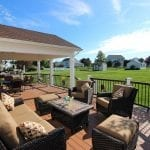 Clifford - timbertech tropical Antigua gold deck and porch with curved sitting area