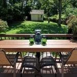 Gallagher - Timbertech antique palm deck with bar counter