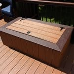 Gallagher - Timbertech antique palm deck with storage box