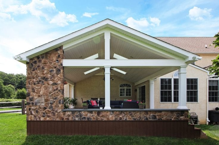 Custom Fieldstone Porch – Chester Springs, PA