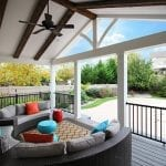 Giordano - island mist trex deck and porch with barnwood beams.