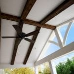 Giordano - island mist trex deck and porch with barnwood, fan and lights