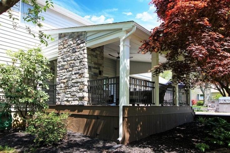 TimberTech Deck / Slant Roof Porch – Malvern, PA 19355