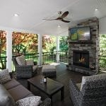 Houp - TimberTech porch with fireplace