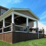 Soutner - Mocha TimberTech deck and porch with vertical decking