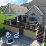 Custom TimberTech Deck / Porch / Flagstone Patio - Landenberg, PA