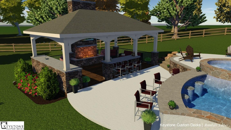 outdoor pavilion rendering
