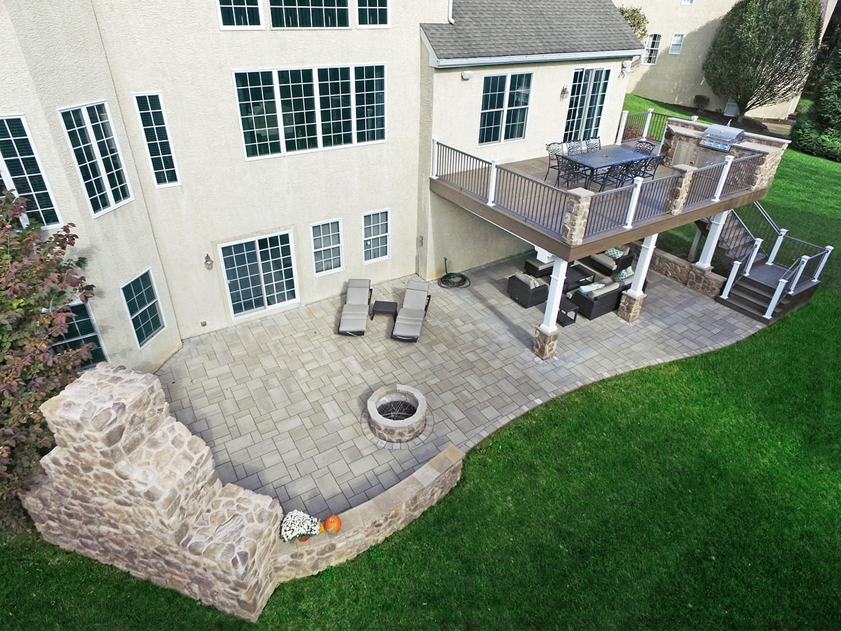 Timbertech Deck Flagstone Patio West Chester Pa 508