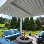 Morgan - Arcadia pergola with tv and fire pit