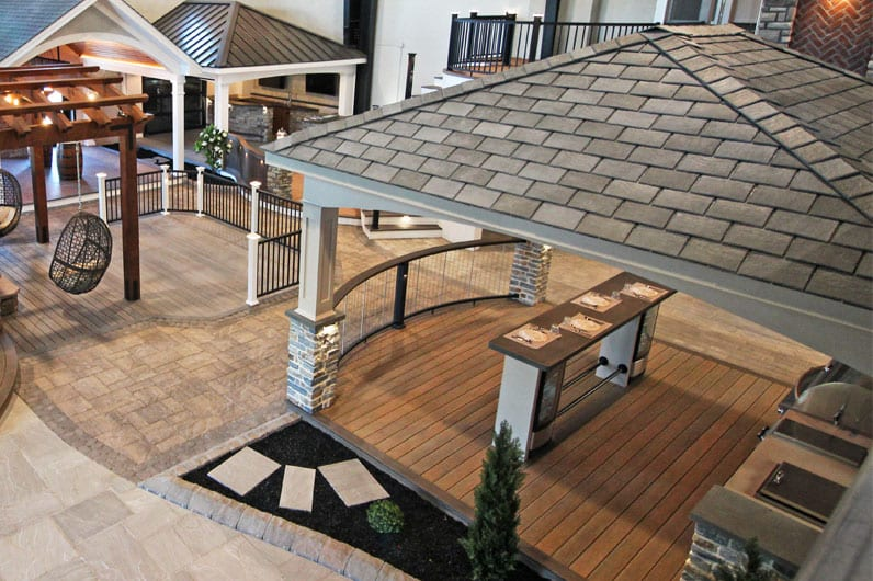 keystone custom decks inspiration center with covered patio designs