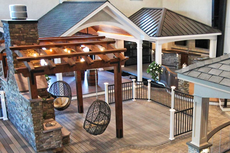 interior design of keystone custom decks inspiration center