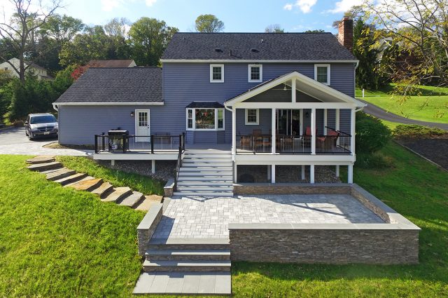 Custom Pebble Grey Trex Deck / Porch / Patio – Newtown Square, PA