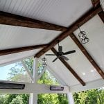 Shah - TimberTech deck and phantom screened porch with fan and lighting