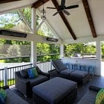 Shah - TimberTech deck and phantom screened porch with heaters