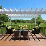 Weiss - timbertech deck with pergola