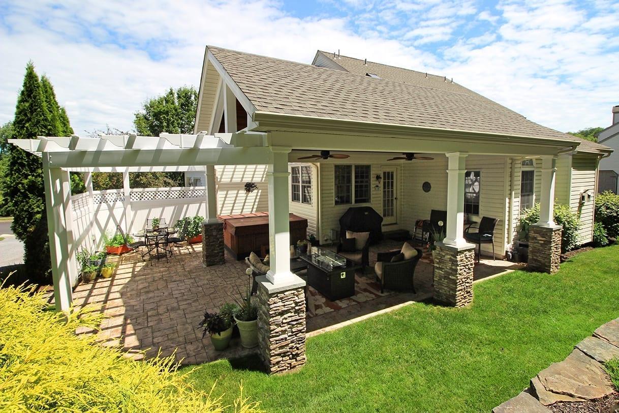 custom pergola patio porch in birdsboro pa