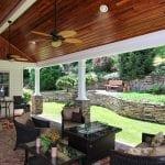 custom pergola patio porch with brick pavers in birdsboro pa