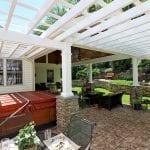 custom pergola patio porch with hot tub in birdsboro pa