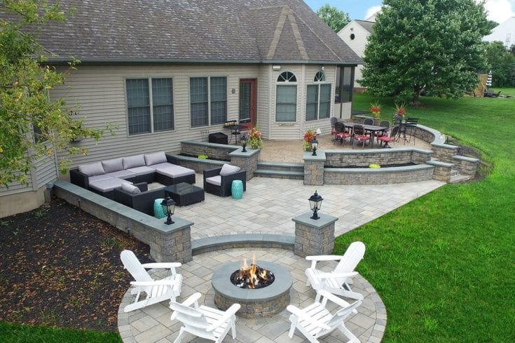Custom Techo-Bloc Patio – Lancaster, PA