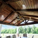 Spiced Rum custom deck and porch with patio and stone fire feature in downingtown pa