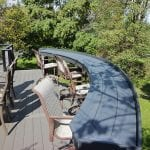 TimberTech Deck with amazon mist curved bar bumpout in west chester pa