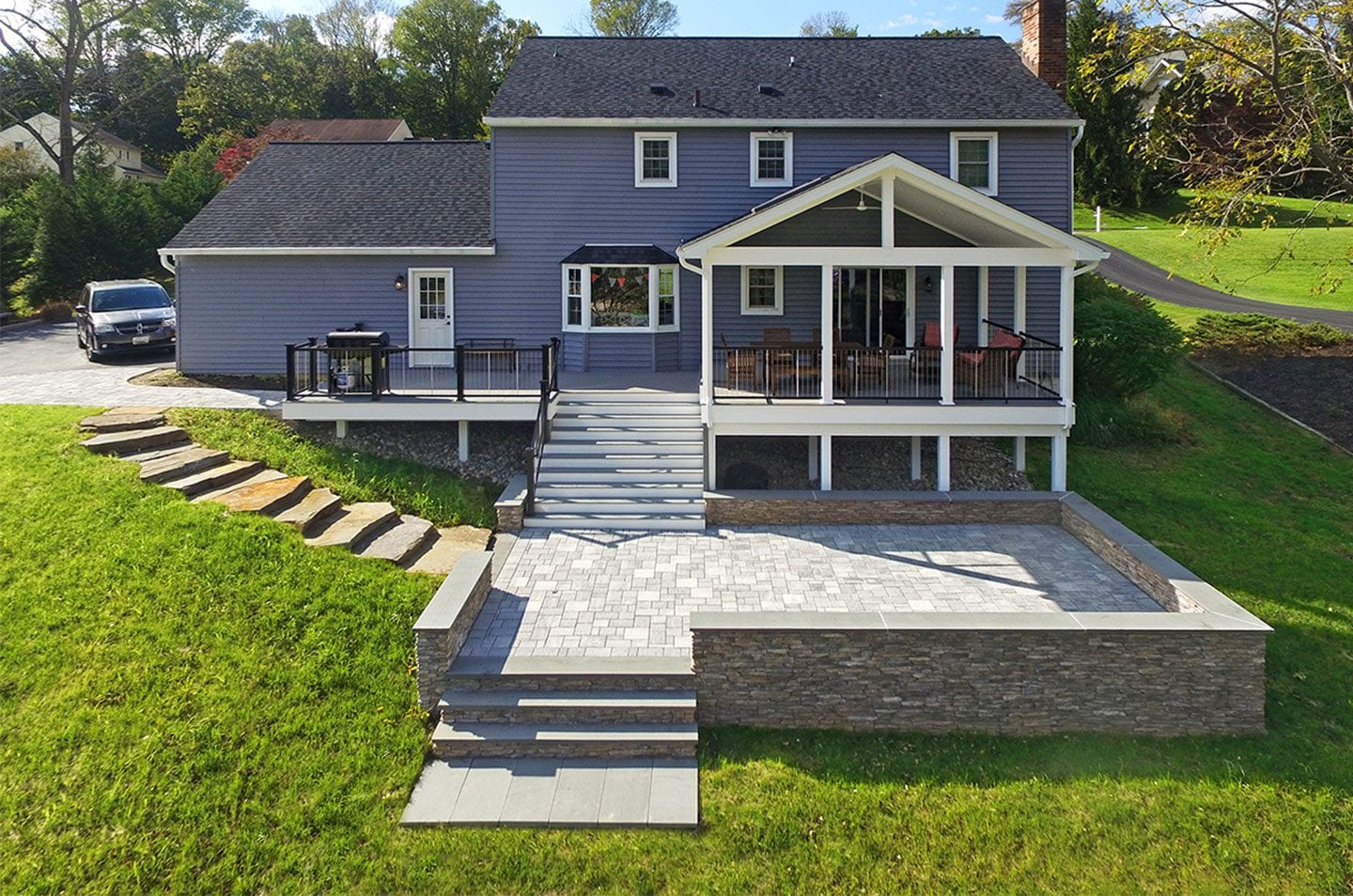 contemporary deck style