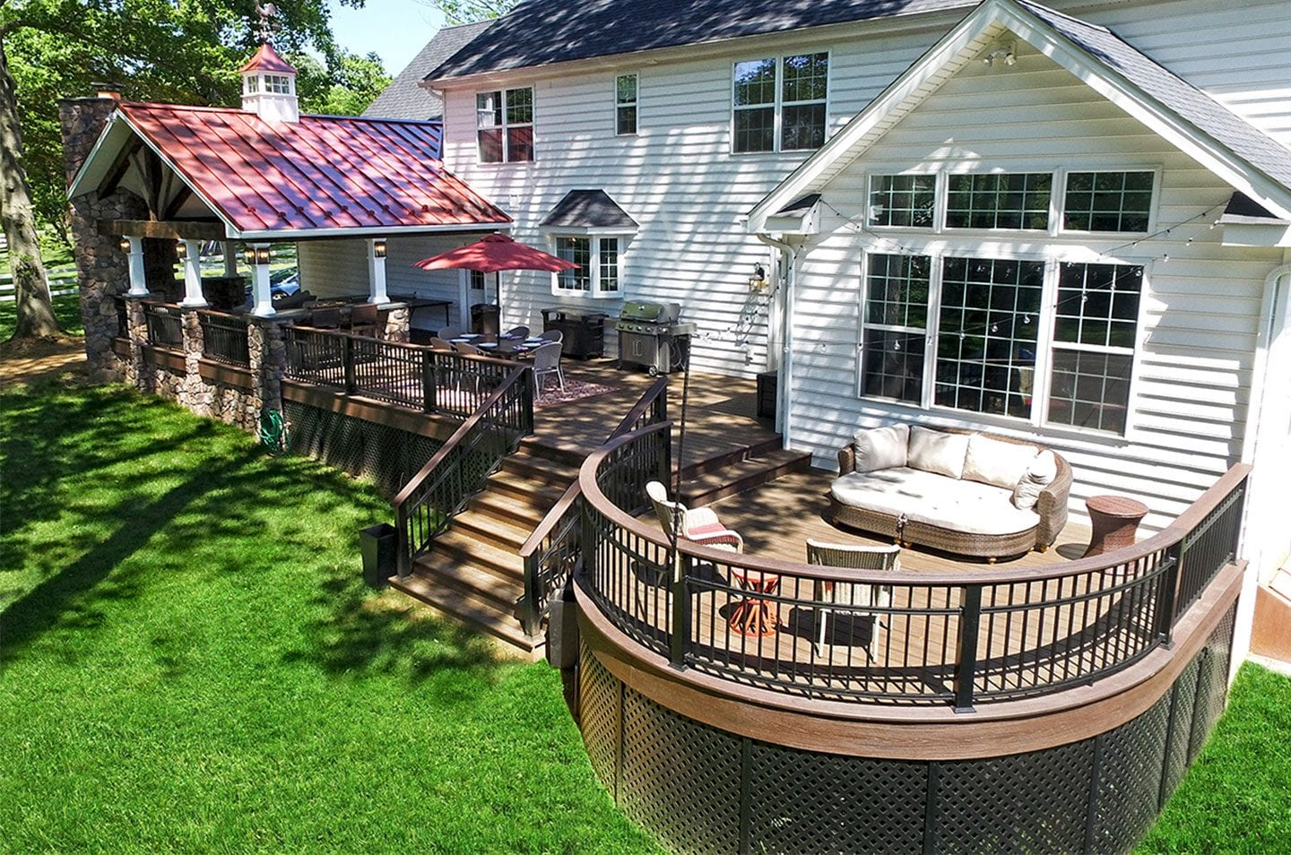 rustic deck style