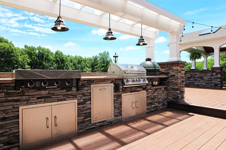 built-in grills on decks