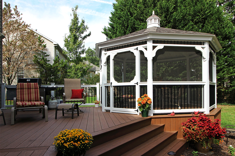 gazebo deck shade idea