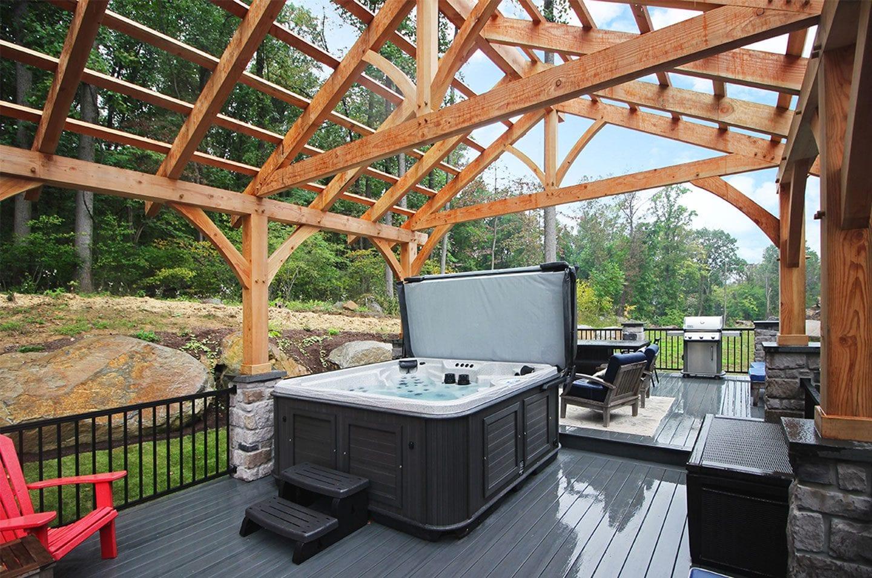 hot tub deck add-on
