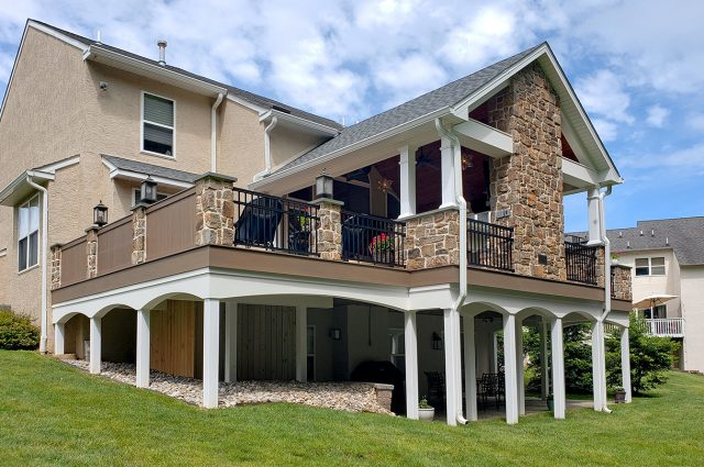 Custom TimberTech Pecan Deck / Heritage Porch –  Downingtown, PA