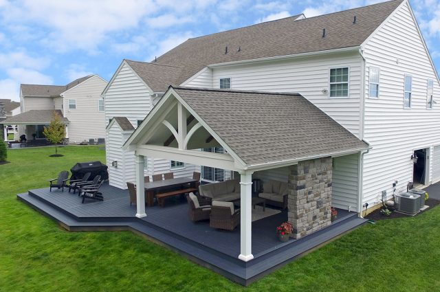 Custom Trex Winchester Grey Deck / Barnwood Porch- Downingtown, PA