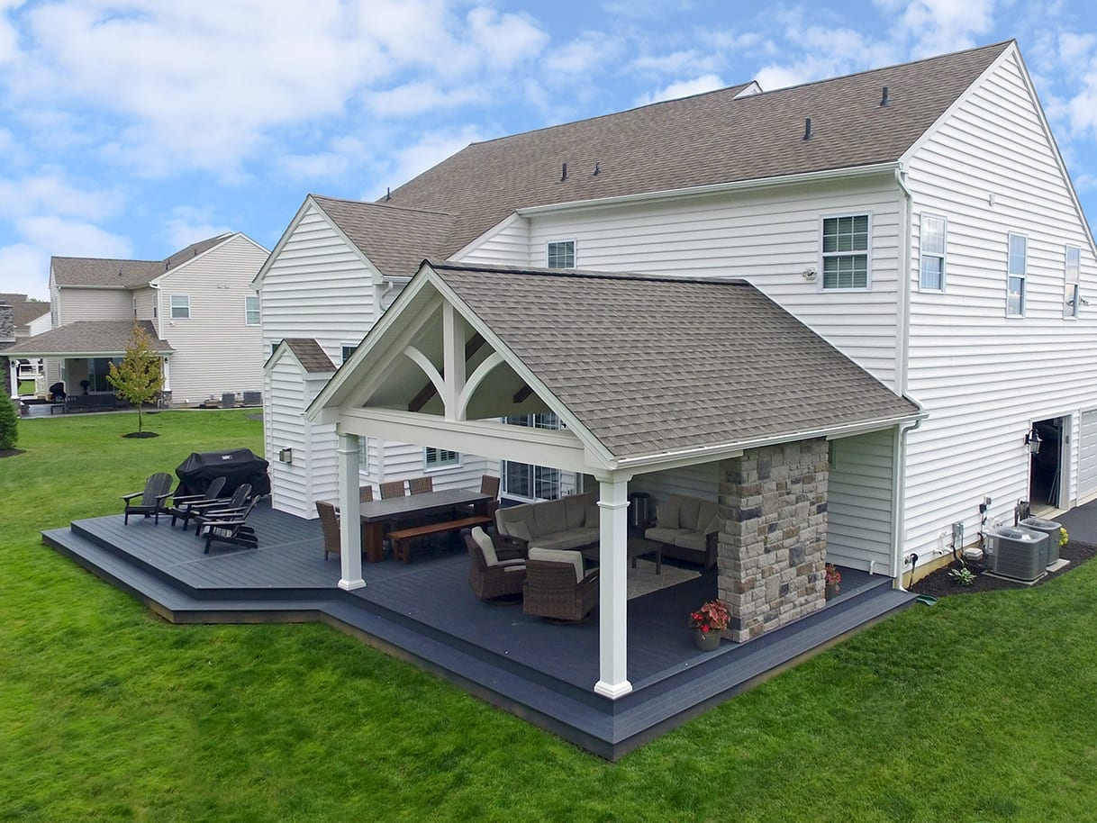 Custom Trex Winchester Grey Deck / Barnwood Porch- Downingtown, PA 1