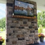 Jaszczyszyn - heritage stone veneer tv wall