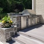 Malloy - rolling rock arcadian ashlar stone veneer kitchen and planter