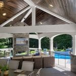 Malloy - timbertech ashwood deck and porch with pinewood ceiling