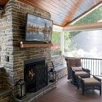 News - quarry cut mica ledgestone fireplace