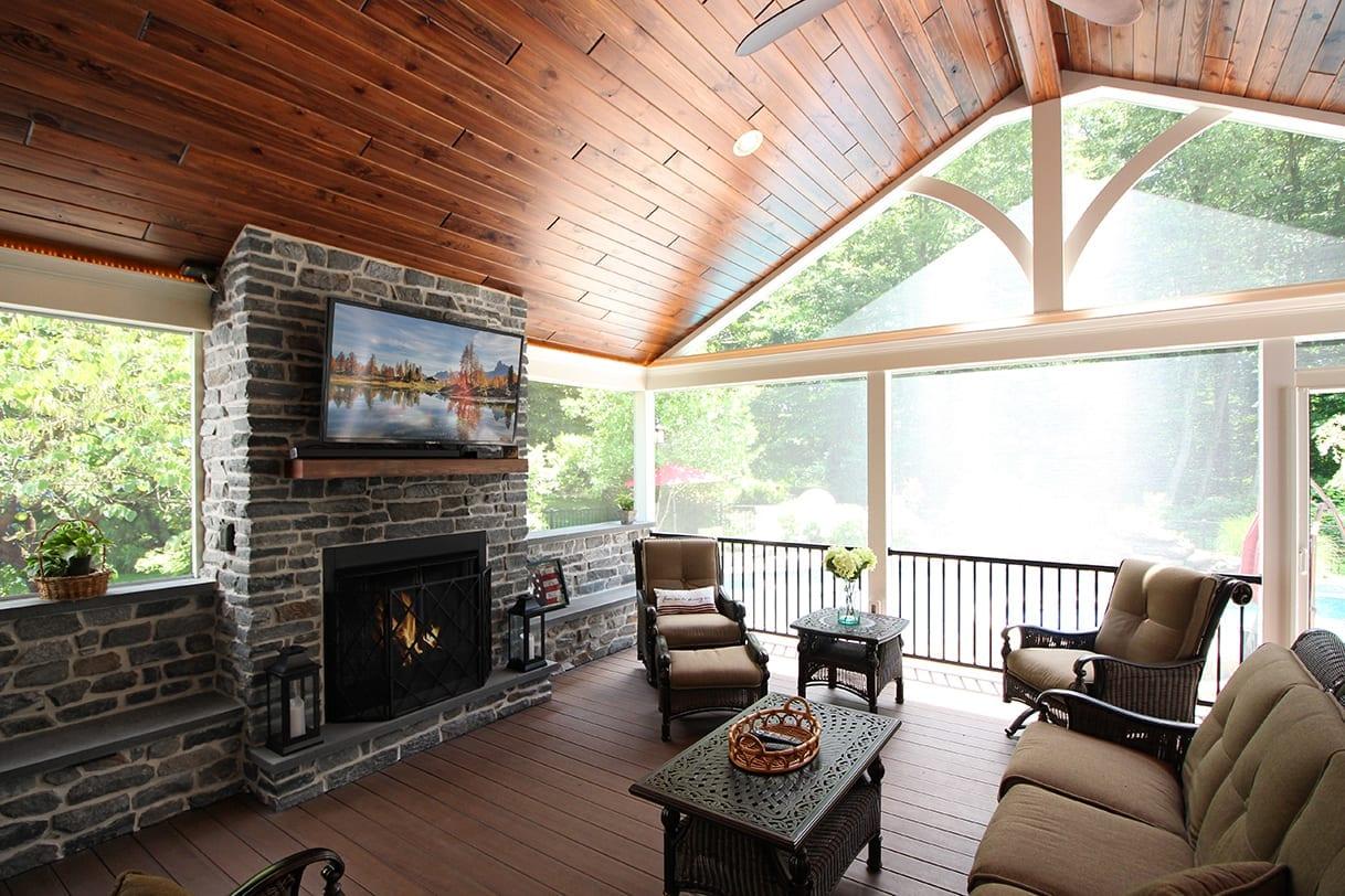 Custom Pecan TimberTech Deck / Screened Porch - Glen Mills, PA 1