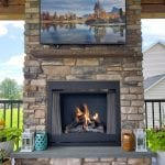 Osifat - provia ledgestone brighton stone veneer fireplace and tv