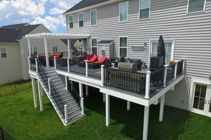 Custom Amazon Mist TimberTech Deck / Pergola – Downingtown, PA
