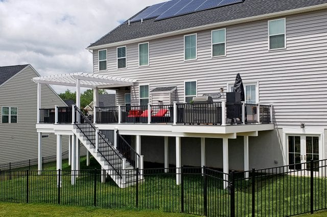 Rutherford - timbertech amazon mist deck with key-link railing