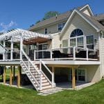 Zeiger - timbertech sepele deck with pergola