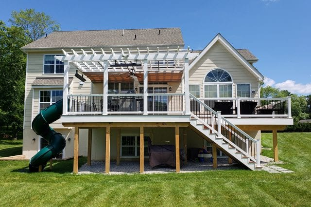 Zeiger - timbertech sepele deck with pvc fascia