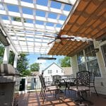 Zeiger - timbertech sepele deck with shade pergola