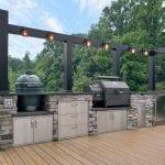 Zook - PA ledgestone veneer kitchen with custom light bar
