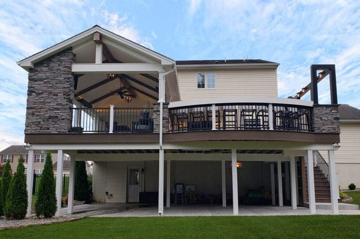 Custom Pecan TimberTech Deck / Barnwood Porch – Kinzers, PA