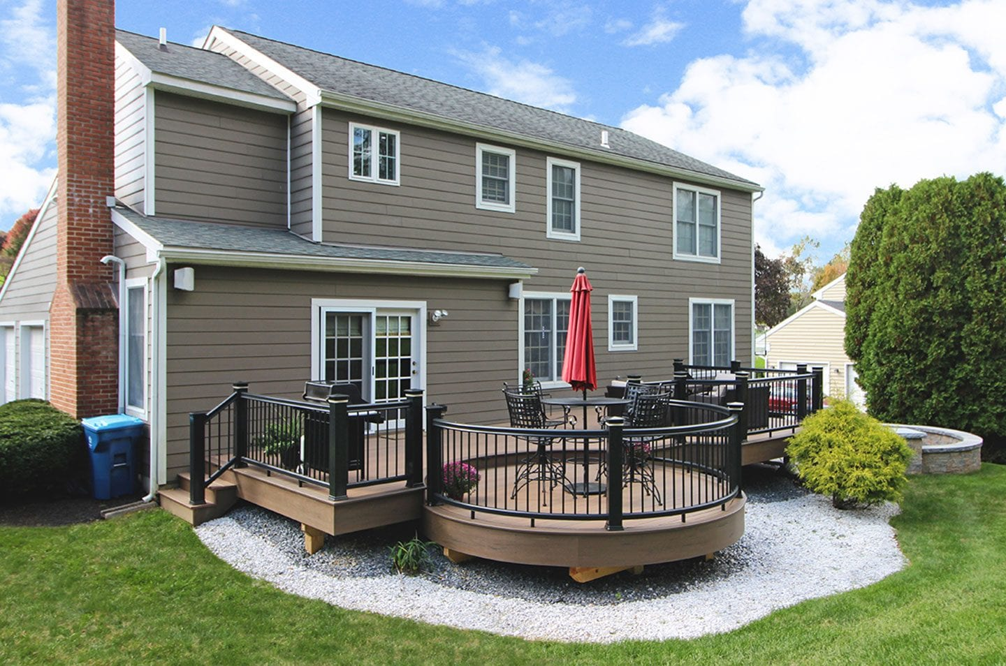 rounded deck and patio inspiration